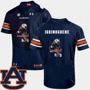 Pictorial Fashion Navy For Men #4 Football Noah Igbinoghene Auburn Jersey 913142-309