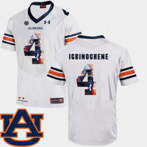 For Men Football White Pictorial Fashion #4 Noah Igbinoghene Auburn Jersey 933547-772