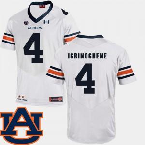 White #4 College Football Men's SEC Patch Replica Noah Igbinoghene Auburn Jersey 388523-172