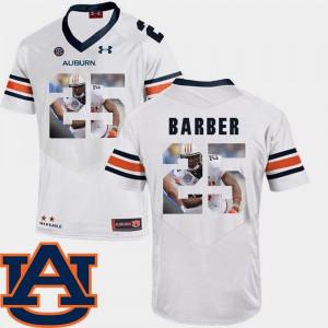 Pictorial Fashion White Peyton Barber Auburn Jersey #25 Football Mens 646425-921