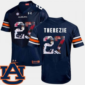 #27 Football Robenson Therezie Auburn Jersey Navy Mens Pictorial Fashion 753480-201
