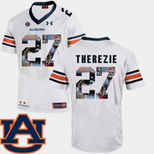 Men Pictorial Fashion White Robenson Therezie Auburn Jersey #27 Football 962846-956