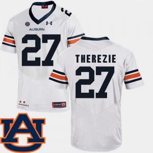 White Robenson Therezie Auburn Jersey Men's SEC Patch Replica #27 College Football 340344-947