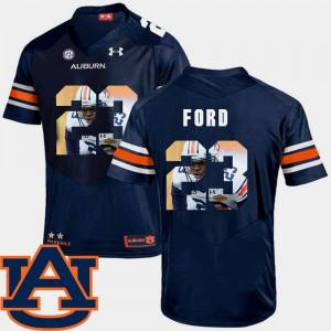 Pictorial Fashion Navy Men #23 Rudy Ford Auburn Jersey Football 518683-479