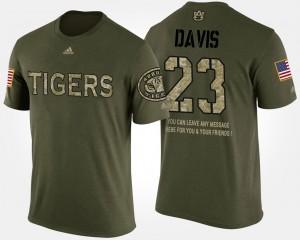 #23 Mens Short Sleeve With Message Military Camo Ryan Davis Auburn T-Shirt 457333-691