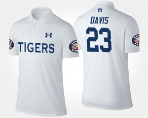 For Men's Ryan Davis Auburn Polo White #23 449599-587