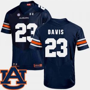 SEC Patch Replica Mens Navy College Football #23 Ryan Davis Auburn Jersey 663461-180