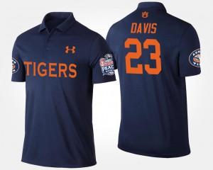 Ryan Davis Auburn Polo #23 Bowl Game Peach Bowl Navy Men's 888482-376