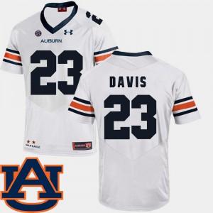 SEC Patch Replica White College Football For Men's #23 Ryan Davis Auburn Jersey 829951-426