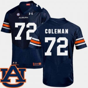 Navy Shon Coleman Auburn Jersey Men's SEC Patch Replica #72 College Football 143961-744