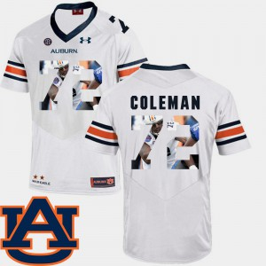 White #72 Shon Coleman Auburn Jersey Football For Men Pictorial Fashion 138539-720