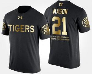 Black Gold Limited For Men's Short Sleeve With Message Tre Mason Auburn T-Shirt #21 200691-458