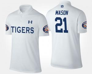 White #21 Tre Mason Auburn Polo Men 764437-930