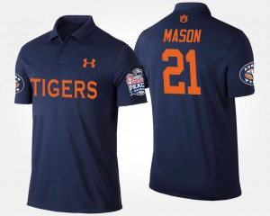 Peach Bowl Bowl Game Tre Mason Auburn Polo Navy #21 Men 136320-799