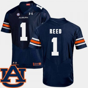 College Football Navy SEC Patch Replica For Men's #1 Trovon Reed Auburn Jersey 409444-744