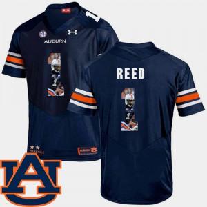 Trovon Reed Auburn Jersey Football #1 Men's Navy Pictorial Fashion 770604-171
