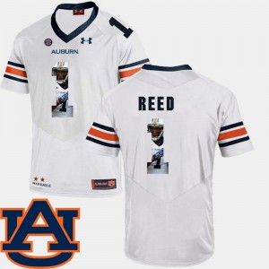 Trovon Reed Auburn Jersey Mens Football Pictorial Fashion White #1 909287-314