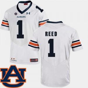 College Football White #1 Mens SEC Patch Replica Trovon Reed Auburn Jersey 499946-635