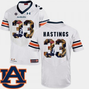 Pictorial Fashion Mens Will Hastings Auburn Jersey Football #33 White 767663-151