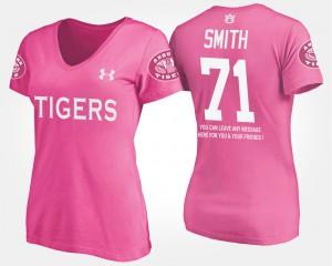 Braden Smith Auburn T-Shirt Women's With Message #71 Pink 841881-645
