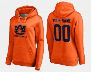 Orange For Women Auburn Custom Hoodie Basketball - #00 579442-442